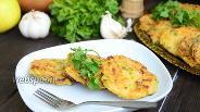 Фото рецепта Кабачковые оладьи с тыквой