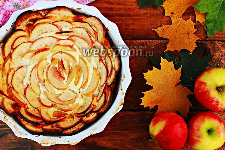 Фото Творожная запеканка с яблоками