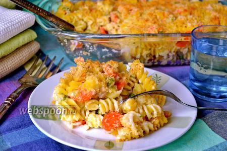 Кассероль из пасты с овощами