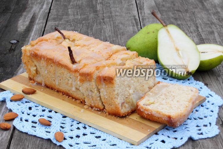 Фото Лимонный кекс с грушами