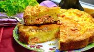 Фото рецепта Заливной пирог с сёмгой