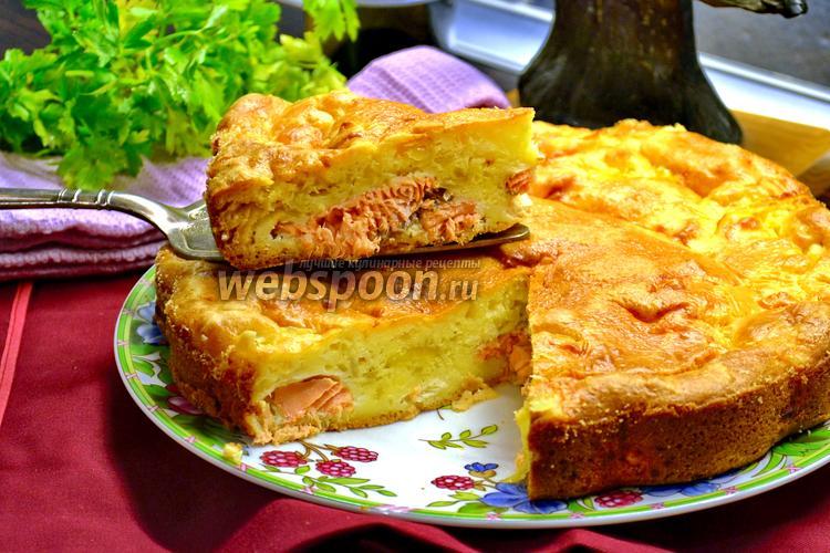 Фото Заливной пирог с сёмгой