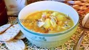 Фото рецепта Суп с моллюсками и беконом