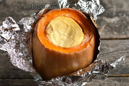 Сырник в тыкве готов.