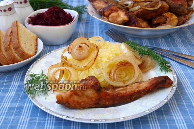 Фото Жареный лещ, маринованный в соевом соусе