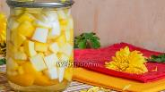 Фото рецепта Сладкие кабачки «Ананасики» на зиму