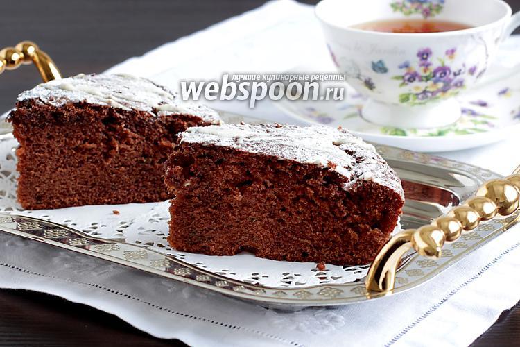 Фото Шоколадный пирог с мятой и вяленой клюквой
