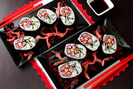 Роллы кадзари Цветок