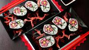 Фото рецепта Роллы кадзари Цветок