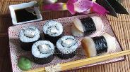 Фото рецепта Роллы и нигири суши с масляной рыбой