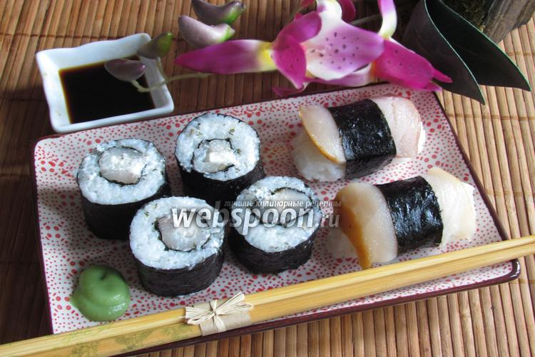 Фото Роллы и нигири суши с масляной рыбой
