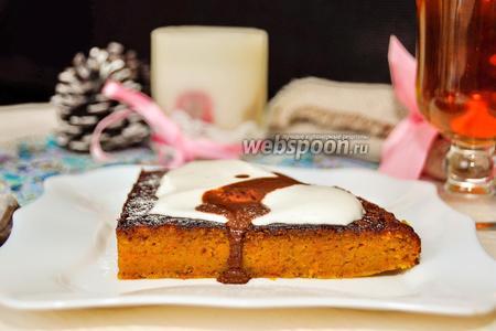 Морковный пирог с шоколадным ганашем