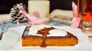 Фото рецепта Морковный пирог с шоколадным ганашем