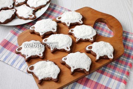 Наше шоколадное печенье «Барашки» готово. Приятного чаепития!