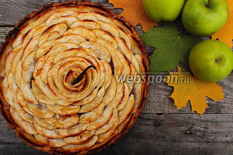 Фото Классический французский яблочный тарт