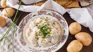 Фото рецепта Картофельный салат с копчёной скумбрией