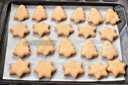Готовить при 180°С приблизительно 15-18 минут (до слегка золотистого цвета). Печенье готово. Печенье по желанию можно покрыть сверху сахарной глазурью.