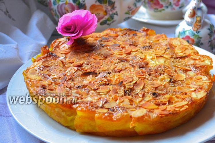 Фото Яблочно-грушевый пирог с аппетитной корочкой