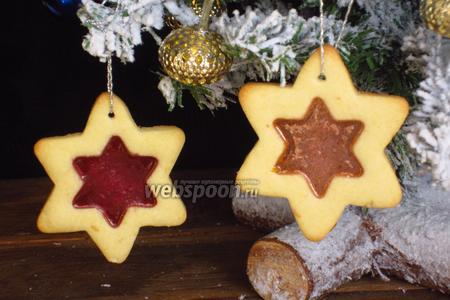 Новогоднее печенье «Стёклышки»