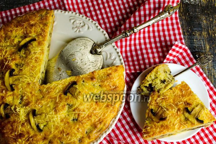 Фото Грибной пирог с сыром