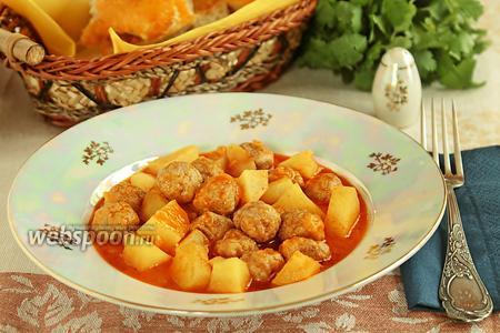 Сулу кёфте — фрикадельки в томатном соусе по-турецки