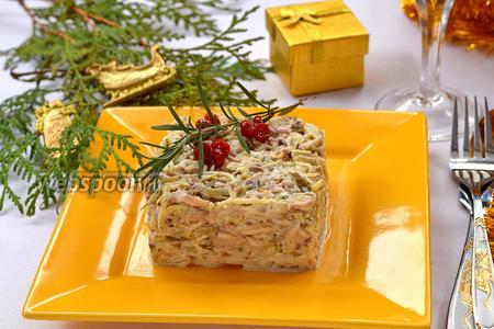 Салат с сырыми шампиньонами и сельдереем