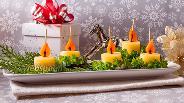 Фото рецепта Канапе с сыром «Свечки»