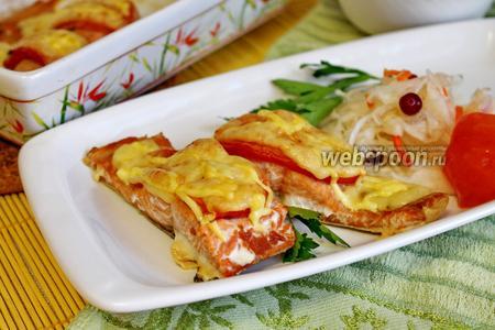 Филе горбуши с сыром в духовке