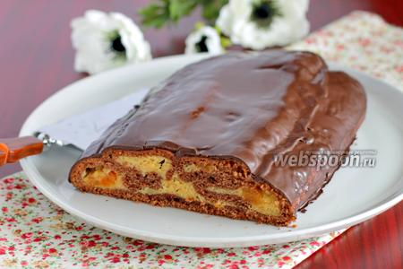 Абрикосовый свёрнутый пирог