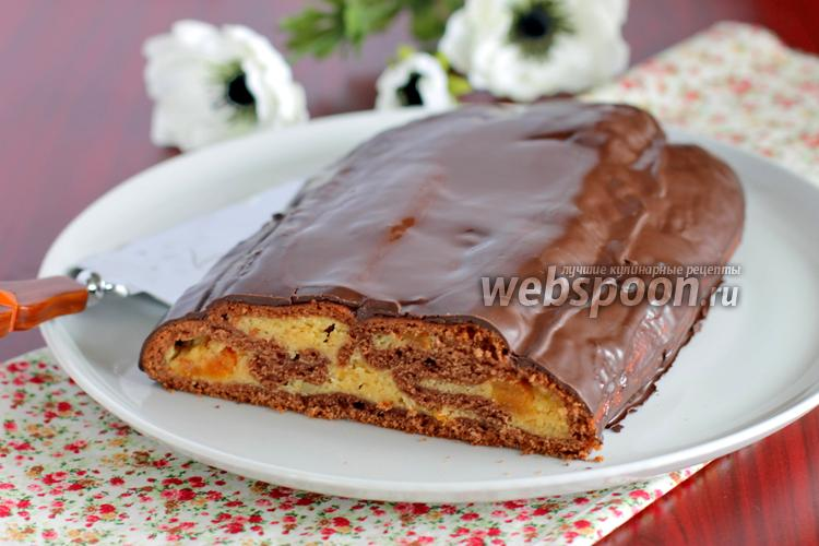 Фото Абрикосовый свёрнутый пирог