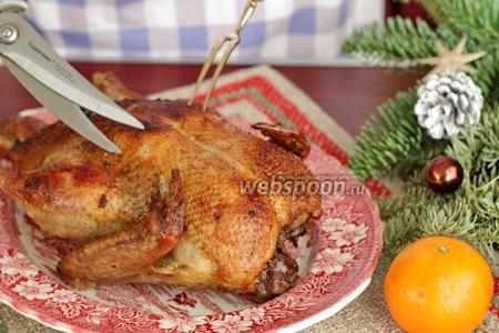 Рождественская утка с апельсинами и черносливом