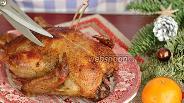 Фото рецепта Рождественская утка с апельсинами и черносливом