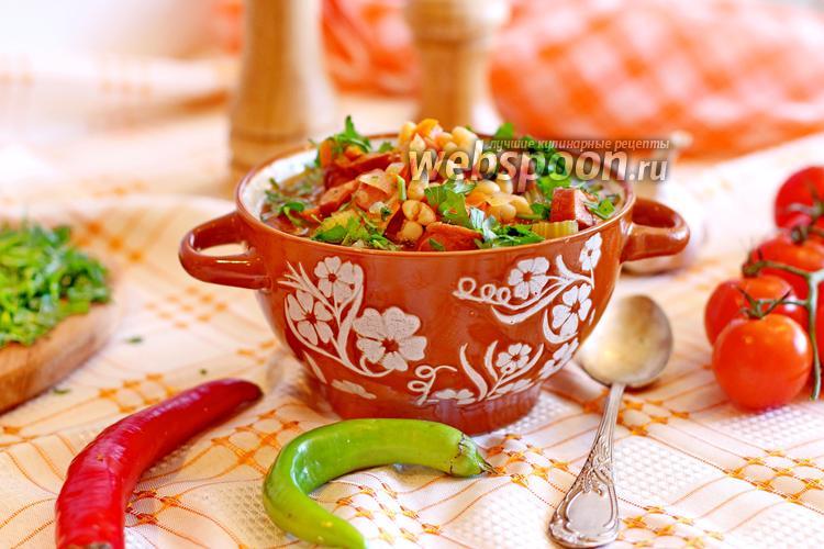 Фото Фасолевый суп с копченостями