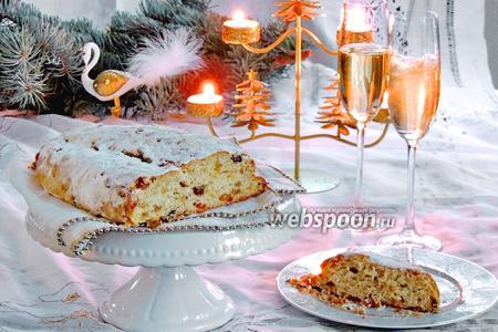 Рождественский штоллен с шампанским
