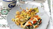 Фото рецепта Конвертики из куриного филе с капустой