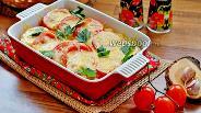 Фото рецепта Запечённые баклажаны с картофелем