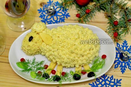 Новогодний салат «Овечка»