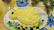 Фото рецепта Новогодний салат «Овечка»