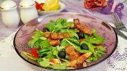 Фото рецепта Салат со шпинатом и поджаренной грудинкой