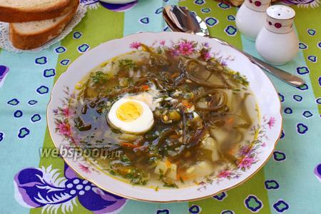 Суп с морской капустой