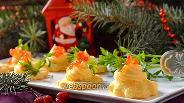 Фото рецепта Закуска с красной икрой и плавленым сыром