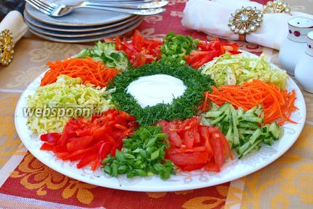 Салат «Козёл в огороде»
