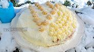 Фото рецепта Миндально-кокосовый торт с марципаном