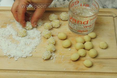 Миндальные шарики, пошаговый рецепт с фото