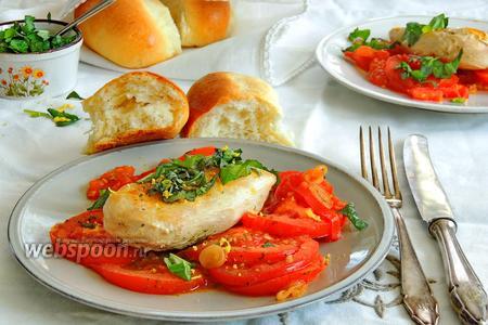 Куриное филе с помидорами с базиликом