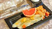 Фото рецепта Пангасиус на морковном рисе с грейпфрутом