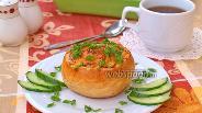 Фото рецепта Жульен с грибами в булочке