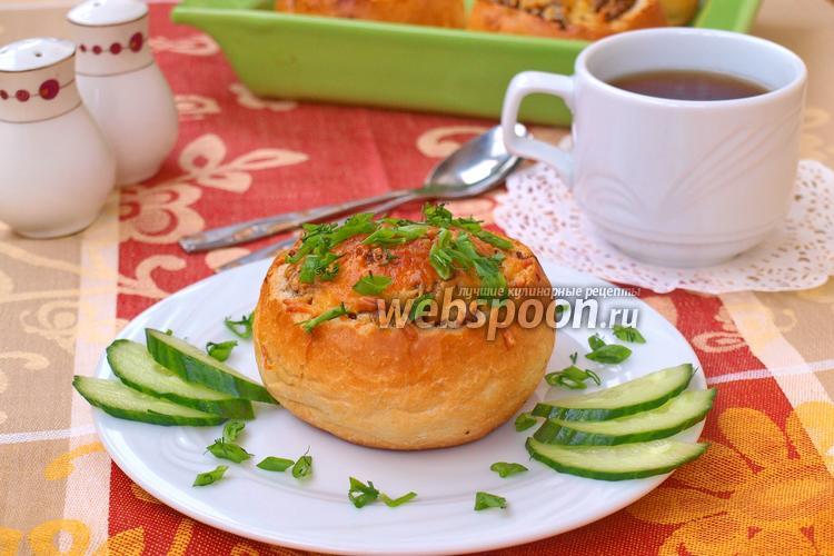 Фото Жульен с грибами в булочке