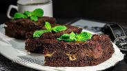 Фото рецепта Шоколадный пирог с малиной и маскарпоне