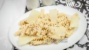 Фото рецепта Фузилли со сливочным соусом и миндалём